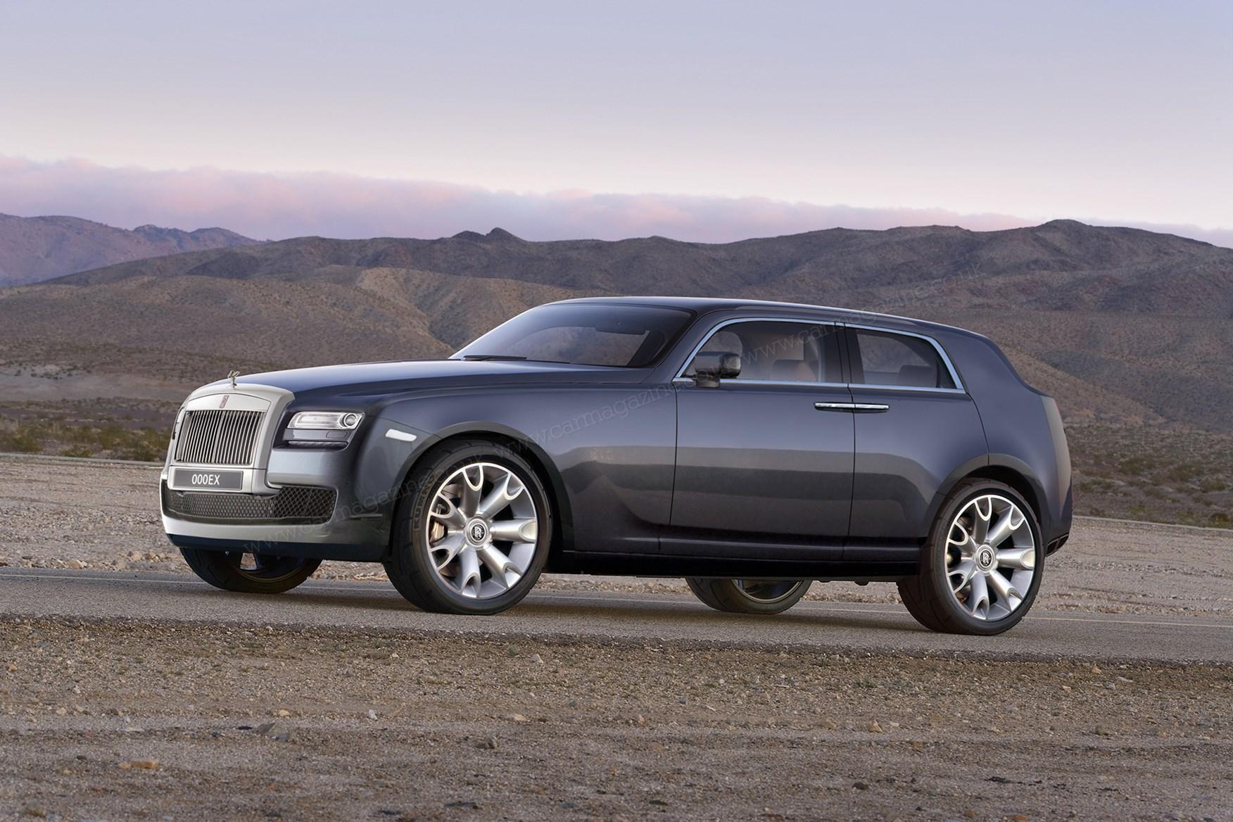 Ricostruzione di un possibile SUV Rolls-Royce