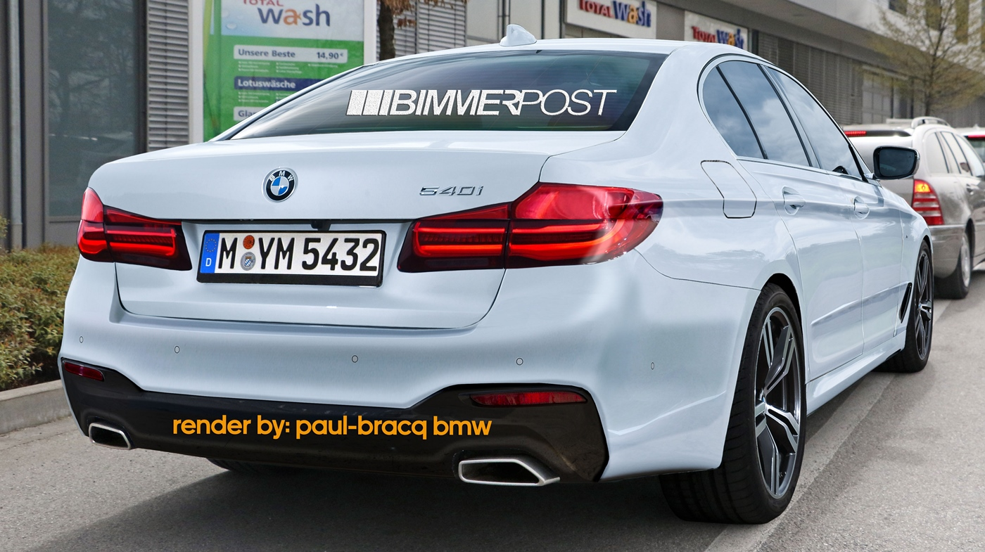 bmw serie 5 g30 render della m sport bmwpassion blog. Black Bedroom Furniture Sets. Home Design Ideas