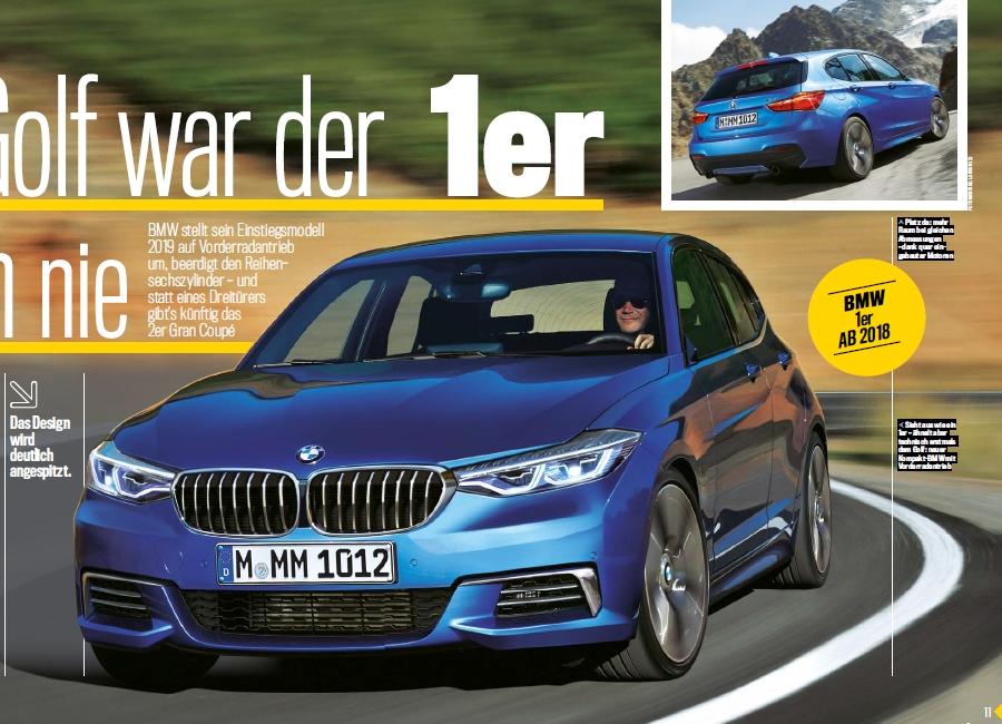 BMW Serie 1 F40: arriva nel 2019 con trazione anteriore ...