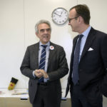 Amatrice - Valerio Neri DG Save the Children -Sergio Solero Presidente ed AD di BMW Italia
