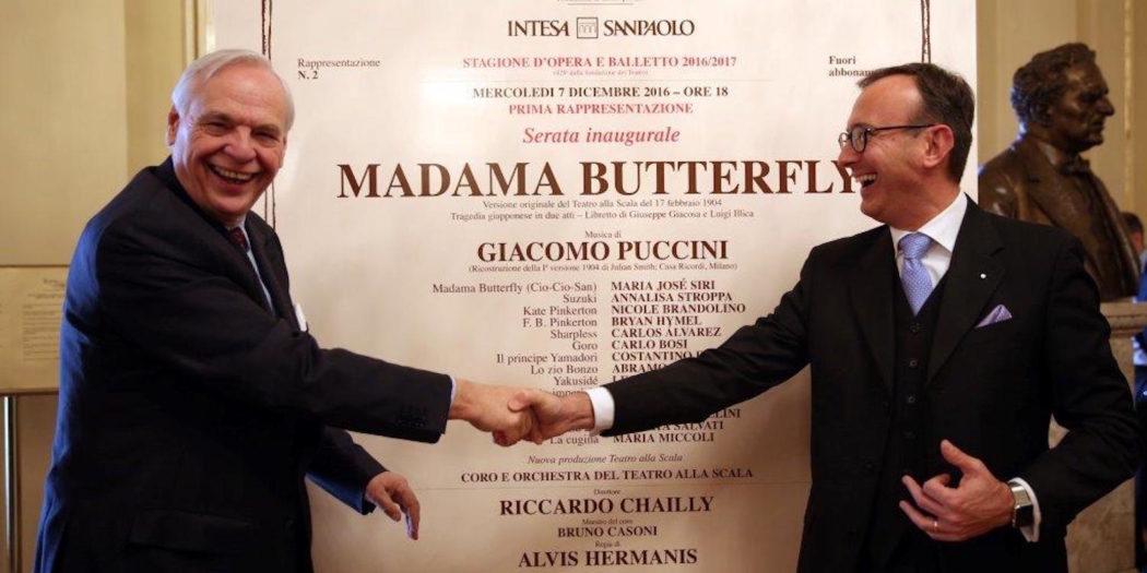 Alexander Pereira, sovrintendente del Teatro alla Scala e Sergio Solero, Presidente e AD di BMW Italia S.p.A.