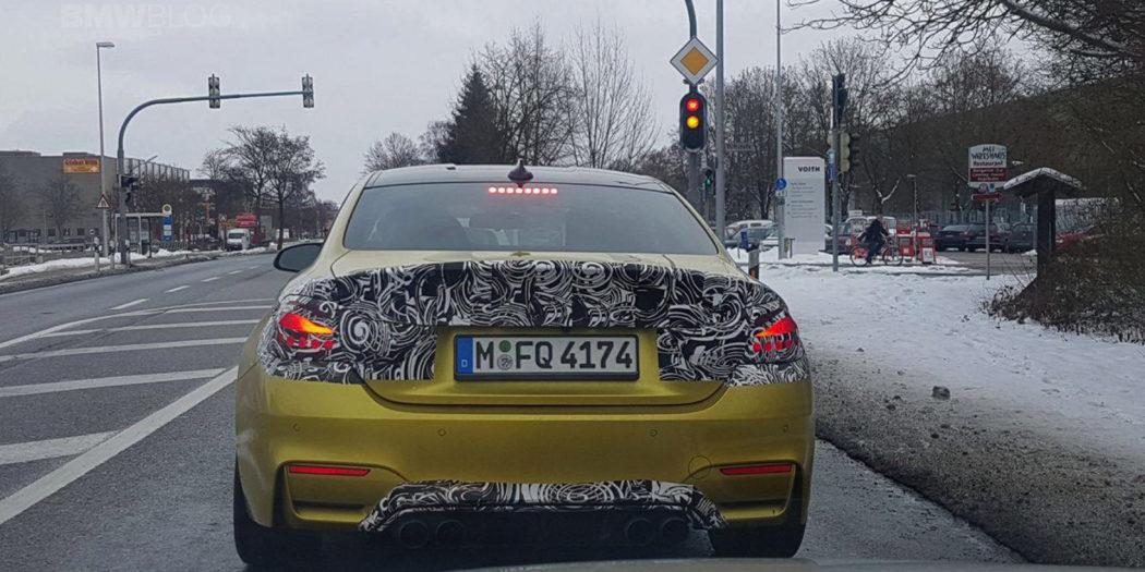 BMW M4 LCI Spy