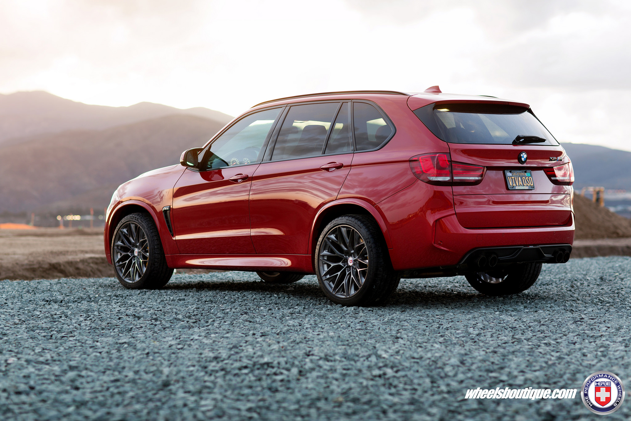 BMW X5M Melbourne Red on HRE P200 Wheels