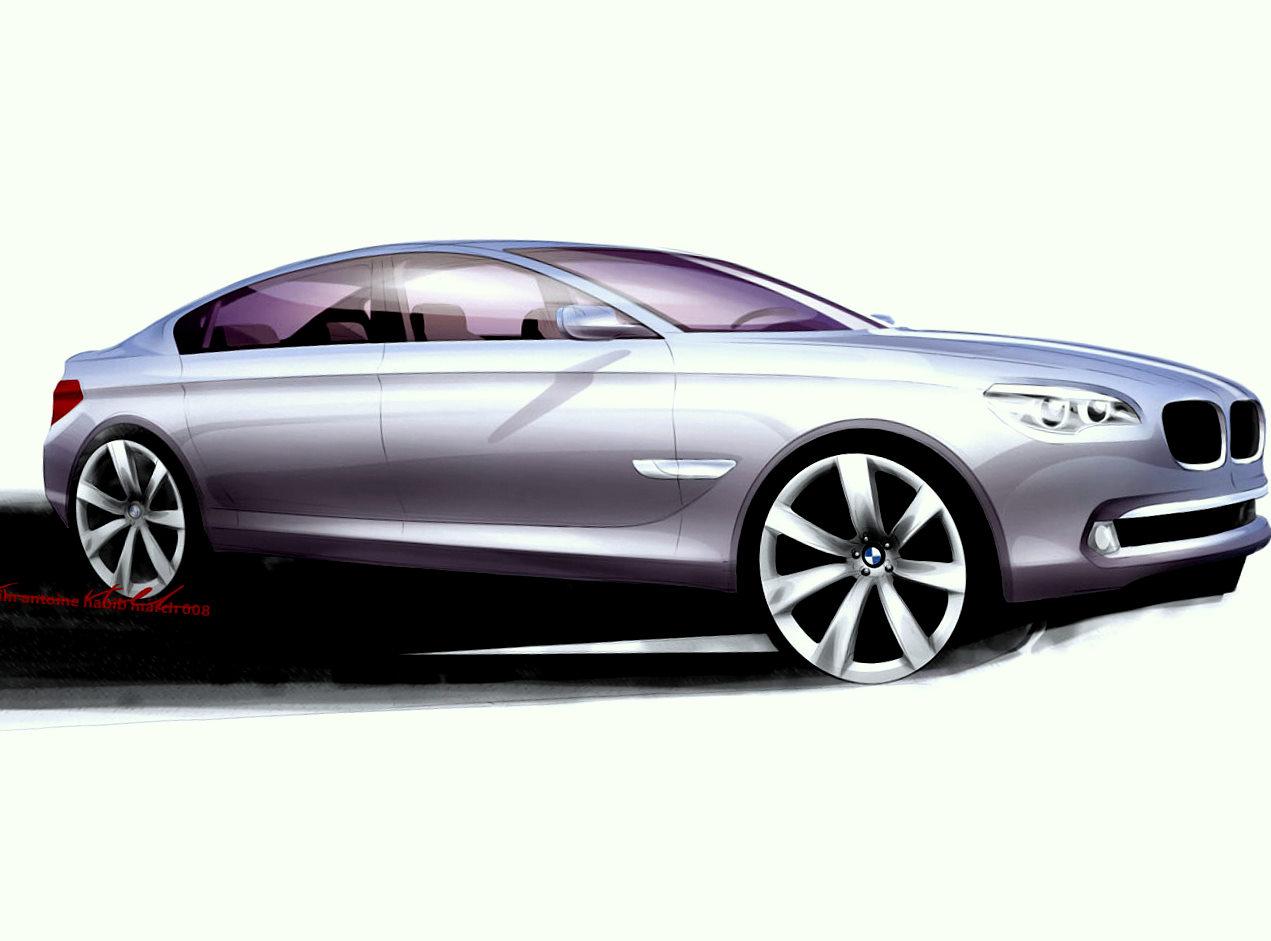 Karim Habib Sketch Design BMW Serie 7 F01 - 2008
