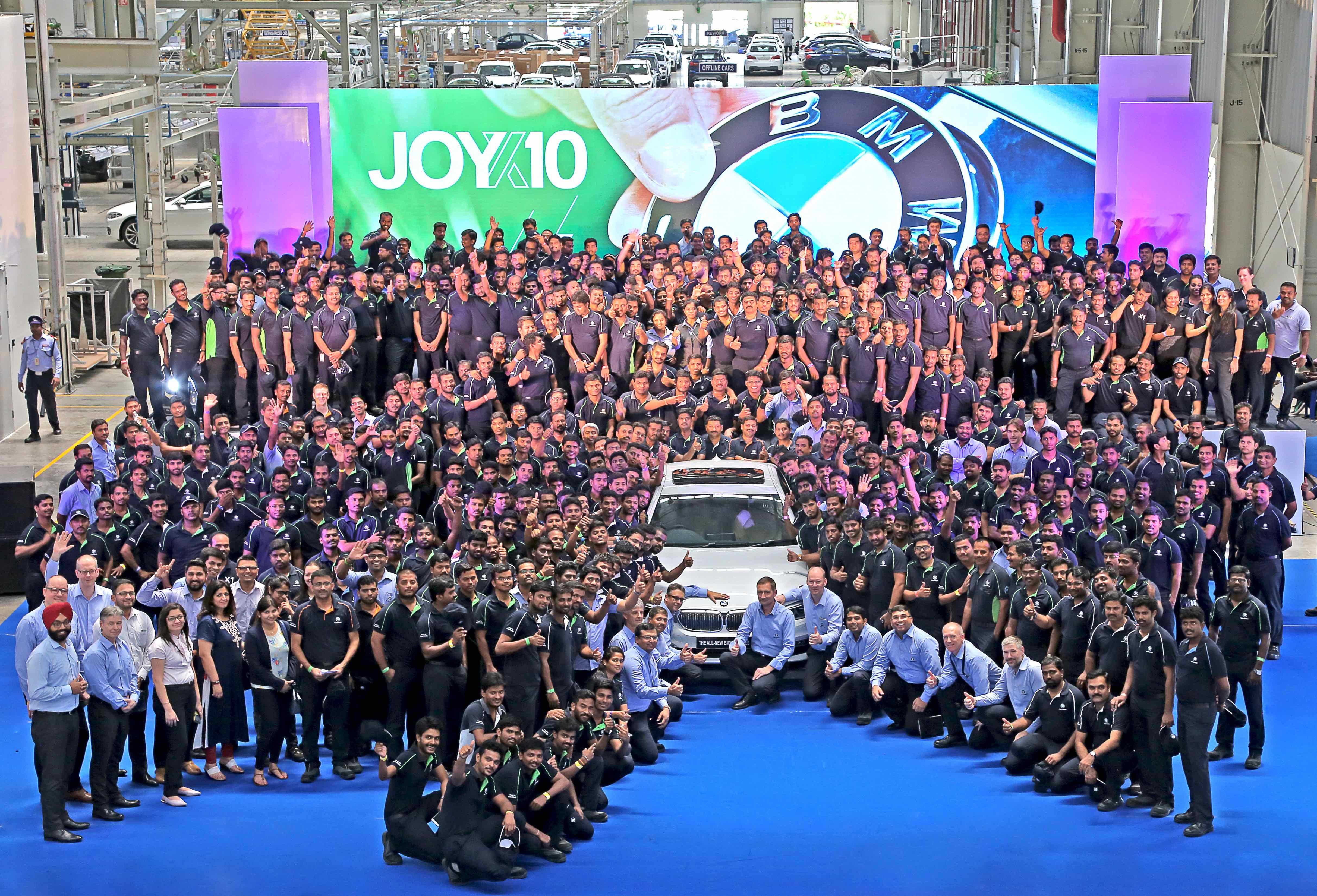 BMW India - BMW Group impianto di Chennai, India. Celebra i 10 anni di attività produttiva in India