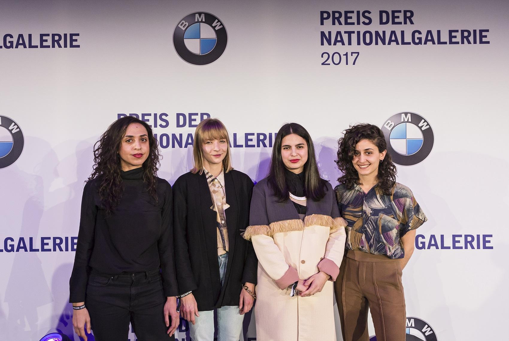 Shortlist Preis der Nationalgalerie - Iman Issa (nominated artist), Agnieszka Polska (nominated artist), Sol Calero (nominated artist), Jumana Manna (nominated artist) (f.l.t.r.) (03_2017)David von Becker