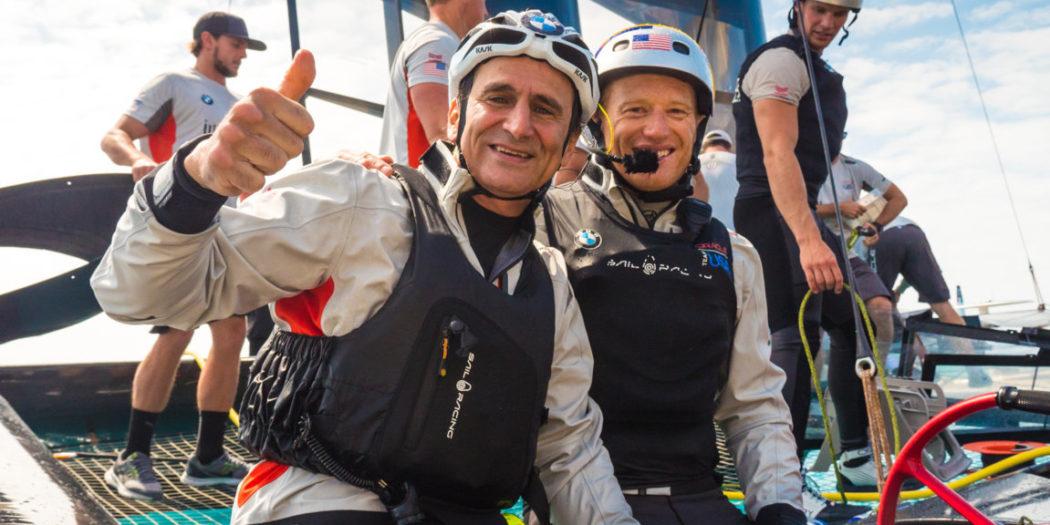 BMW Oracle Team USA - Alex Zanardi - Skipper Jimmy Spithill - America's Cup