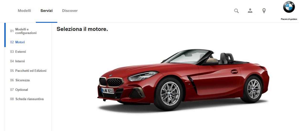 Configuratore della BMW Z4