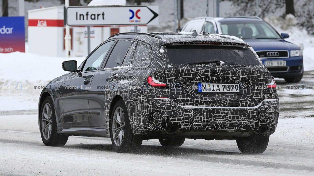Posteriore della BMW Serie 3 Touring avvistata in Svezia