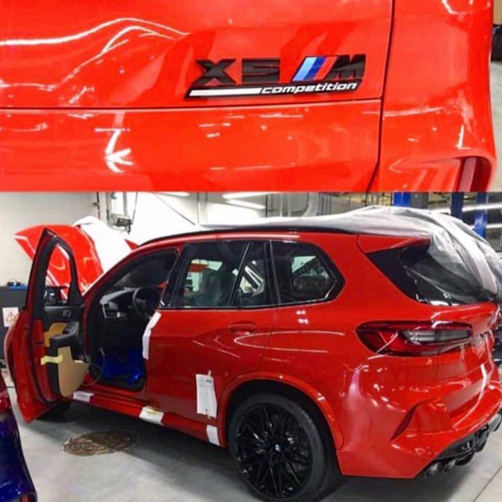 Targhetta della BMW X5 M Competition