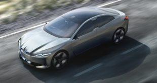 Rendering della nuova BMW i4