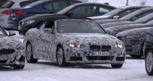 BMW Serie 4 cabrio avvistata nella neve