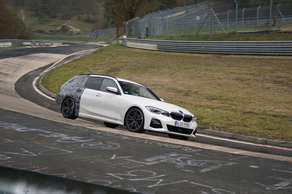 BMW Serie 3 Touring durante dei test al Nurburgring