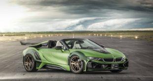 BMW i8 Cabrio trasformata in una vera auto da corsa