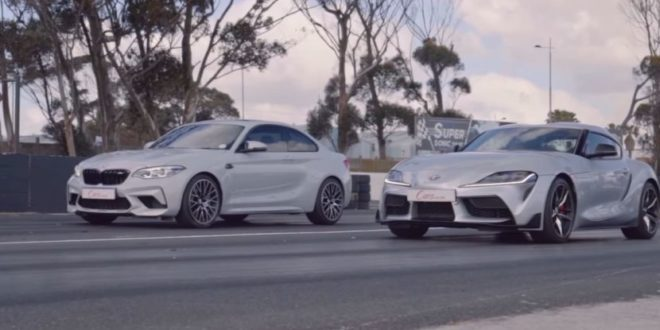 BMW M2 Competition vs Toyota Supra in una drag race!