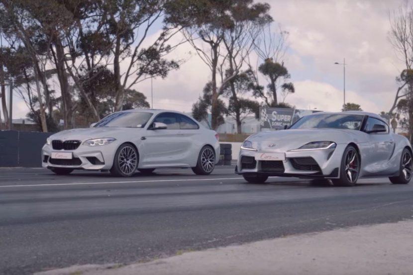 BMW M2 Competition vs Toyota Supra in una drag race!