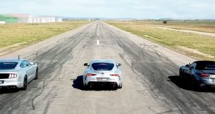 BMW Z4 vs Ford Mustang GT vs Toyota Supra!